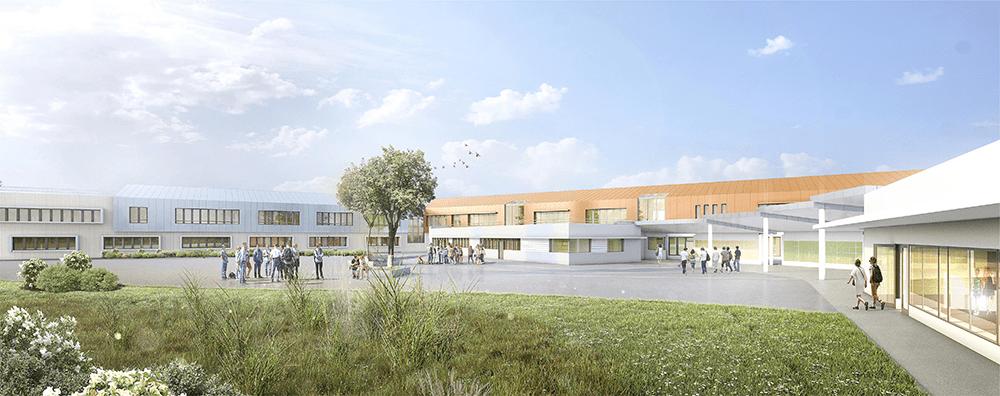 perspective du projet du collège de Coubert