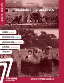 Couverture du programme des Archives départementales