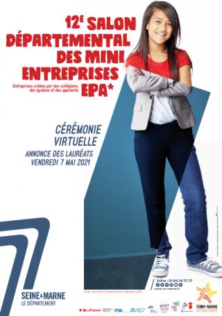 Affiche du 12e salon départemental des mini-entreprises