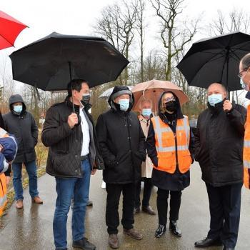 Visite du chantier routier de Bailly-Romainvilliers