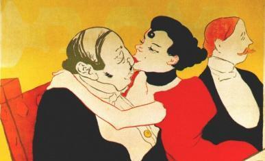 Détail de l'affiche Reine de joie de Toulouse Lautrec
