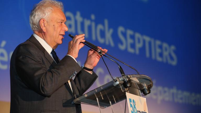Portrait du Président du Département de Seine-et-Marne : Patrick Septiers