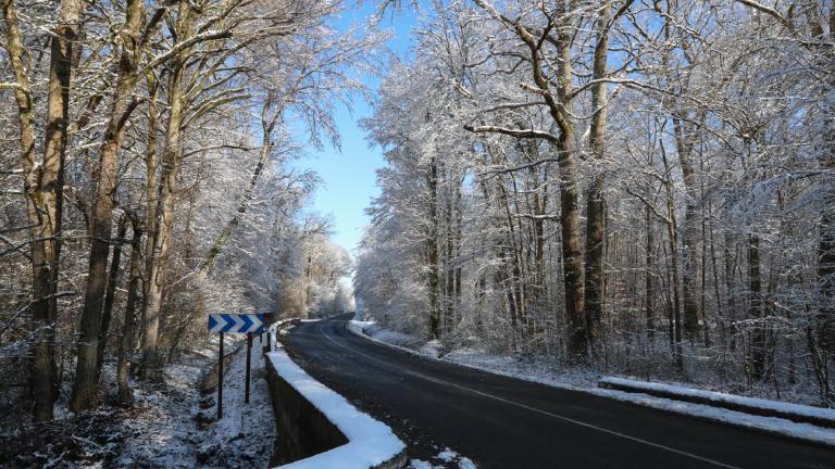route déneigée en Seine-et-Marne